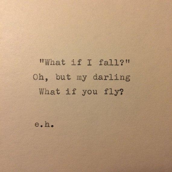 E se eu cair, mas minha querida, e se voce voar