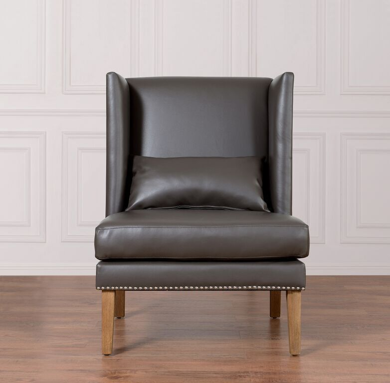 Chelsea Grey Leather Wing ChairInspired By Its Namesake, The Posh New York  Neighborhood, The Chelsea Chair Combines The Rare Qualities Of Chic Design  And ...