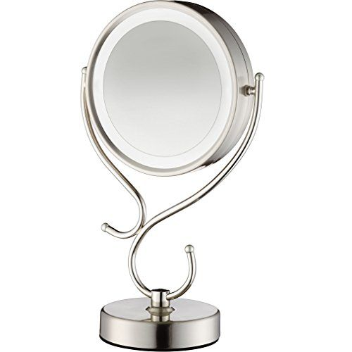 Conair Round Shaped Led Double Sided Lighted Makeup Mirror With