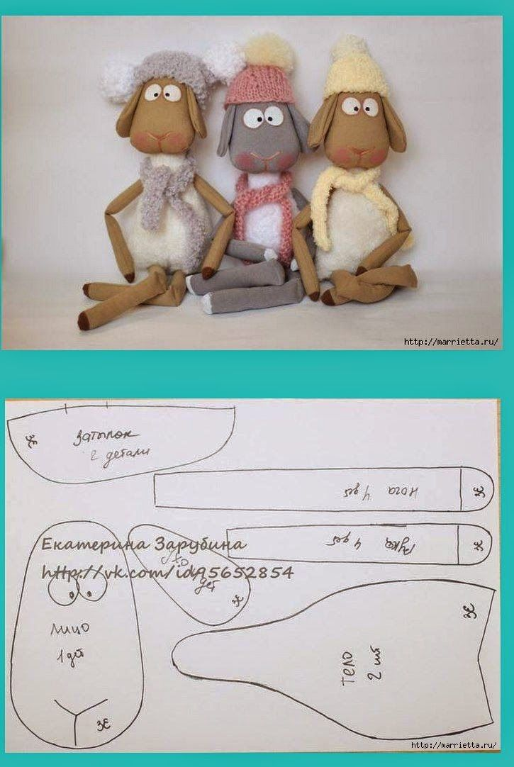 Molde Trio de Ovelhinhas delicadas | doll | Pinterest | Costura ...