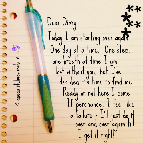 Inspirational Quotes Dear diary