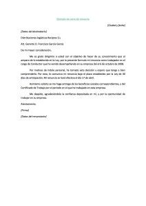 Ejemplo De Carta De Renuncia1 Carta De Renuncia Ejemplo