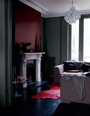 Living Etc Darkroom Burgundy Living Room Maroon Living Room
