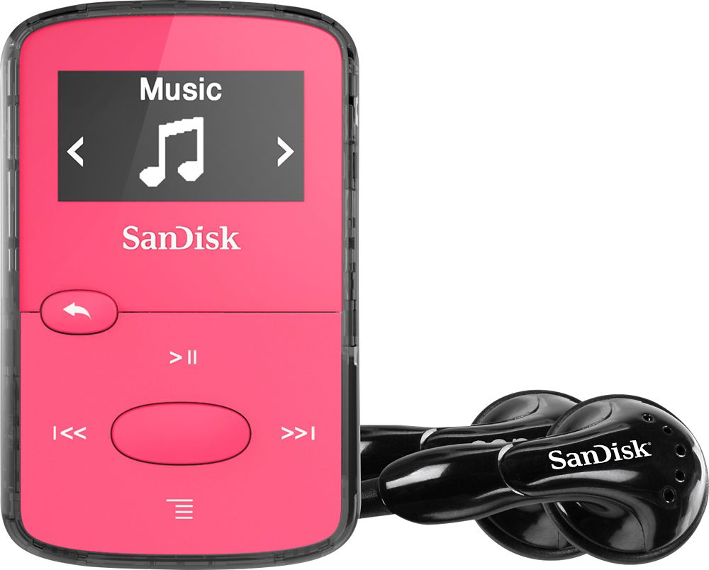 Black SanDisk Clip Jam 8GB MP3 Player