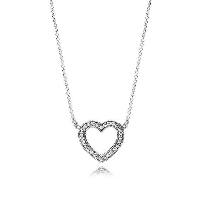 Pandora Collier Tendres Cœurs PANDORA - Lookeor   Pandora necklace ...