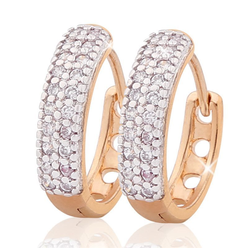 New Arrival Luxurious Hoop Earring Ladies Fashion Shining Crystal