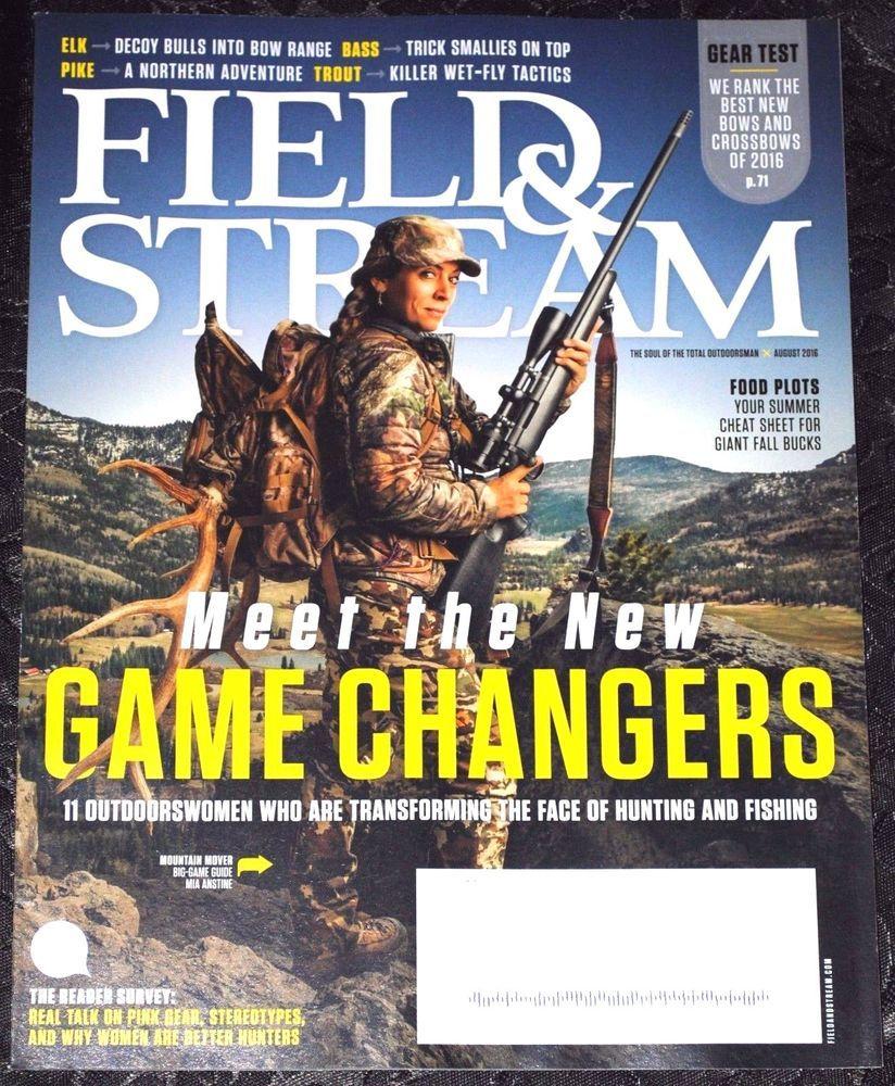 FIELD & STREAM MAGAZINE  August 2016