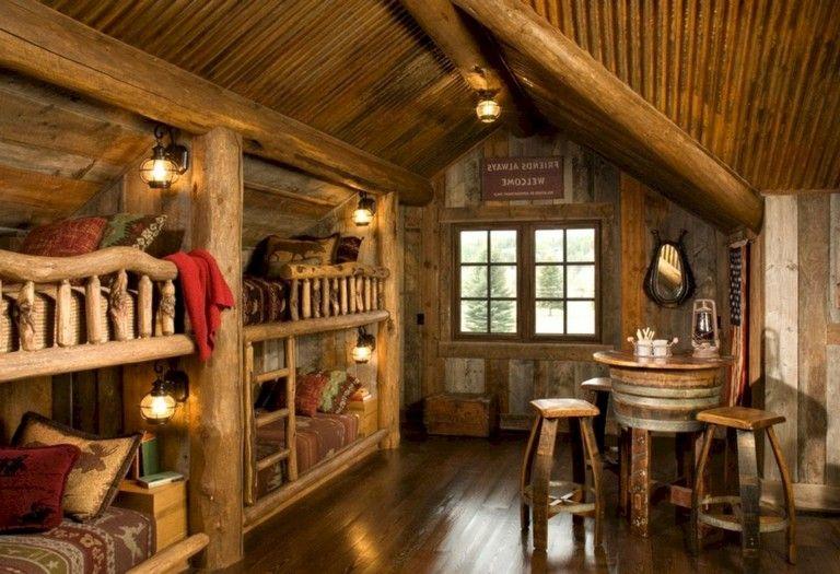 15 Innovative Log Cabin Themed Bedroom For Kids Home