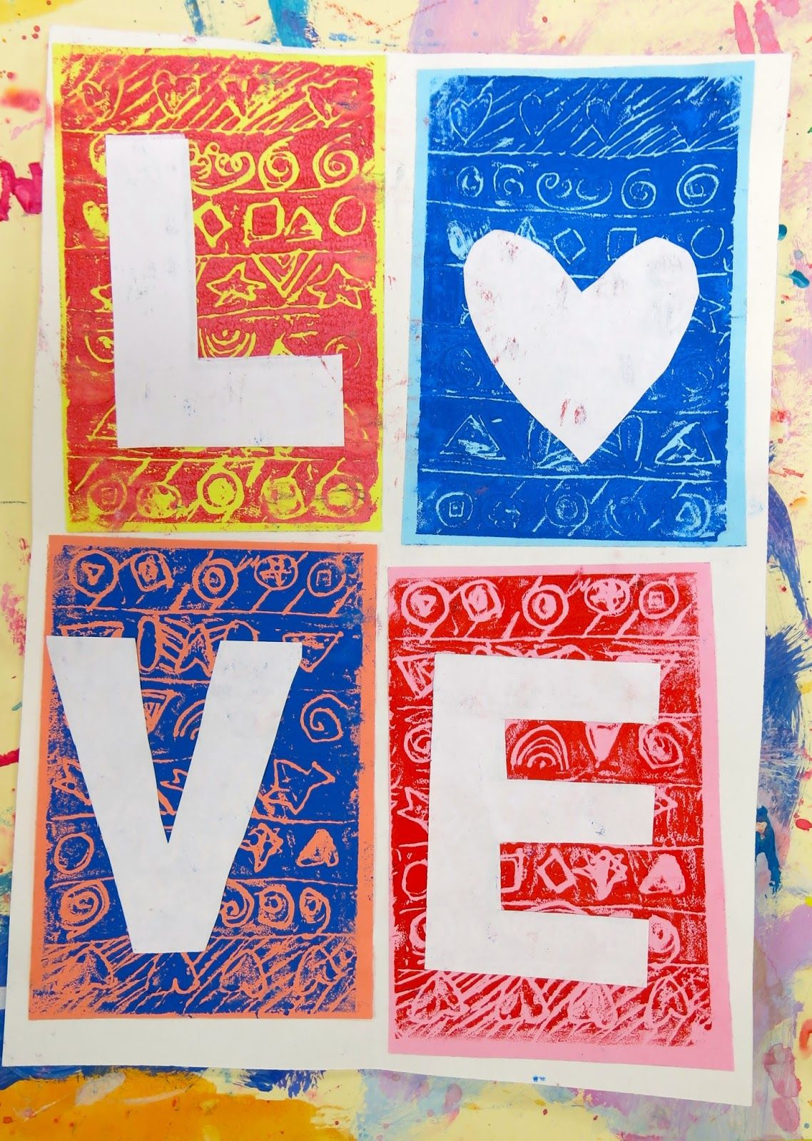 Cassie Stephens In The Art Room First Grade Love Prints