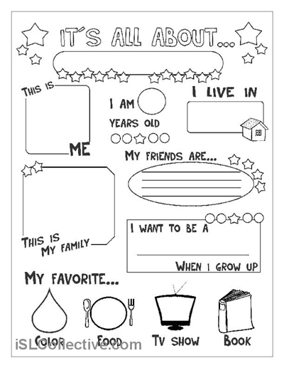 All about me....can do this for the pre-k through 5th grade years ...