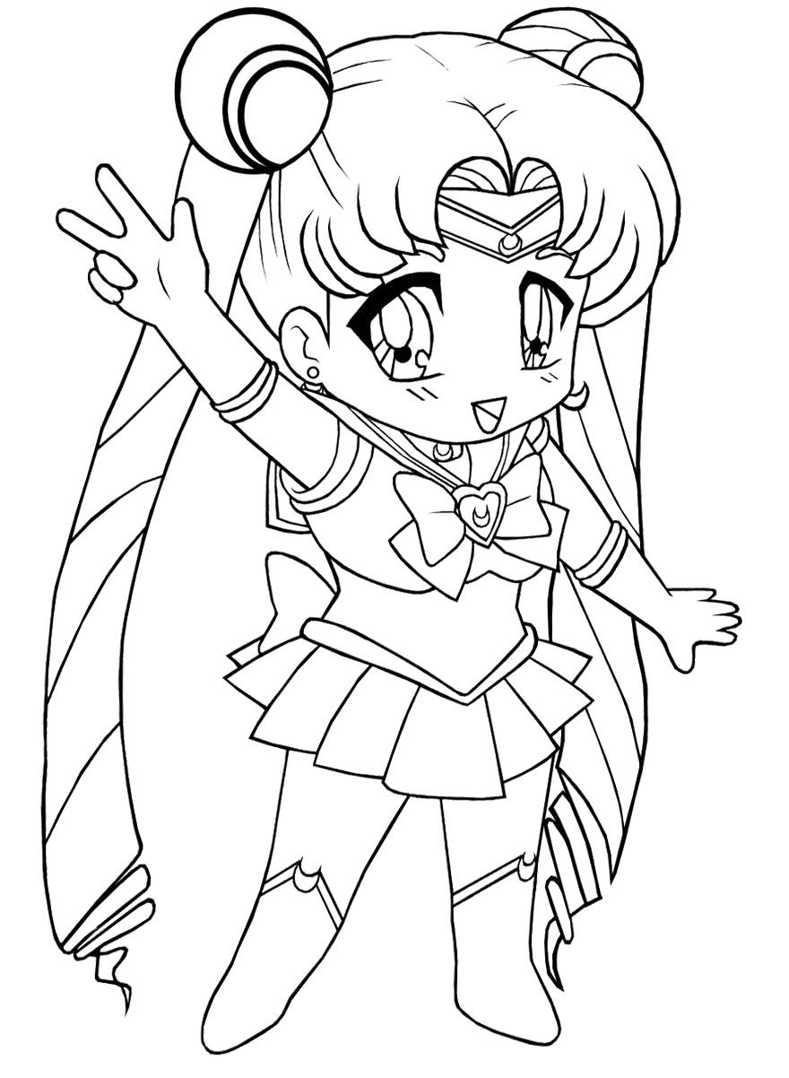 Chibi Sailor Moon Coloring Book Desenhos Para Colorir Desenhos