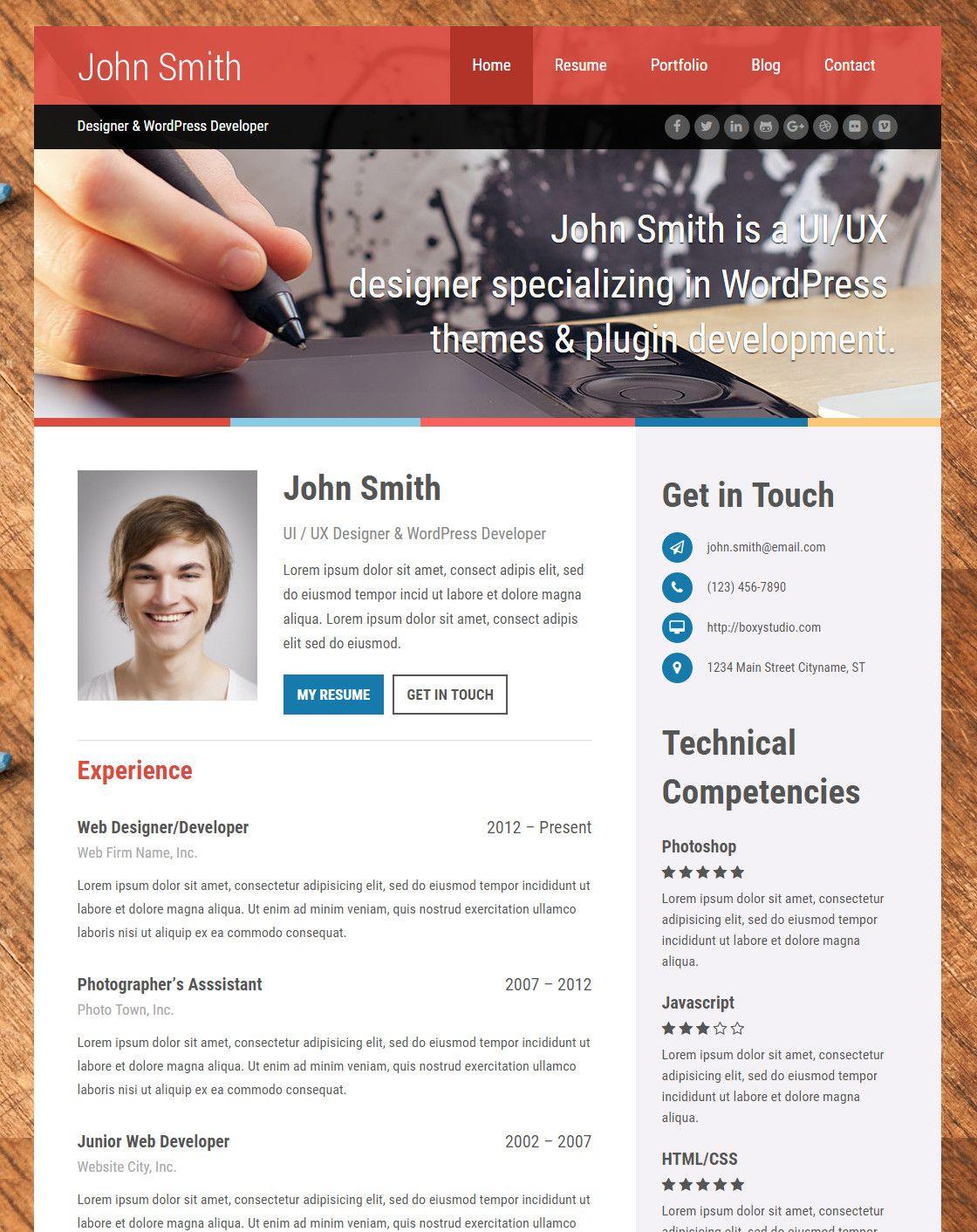 Top 15 Resume Website Templates (in WordPress) Web