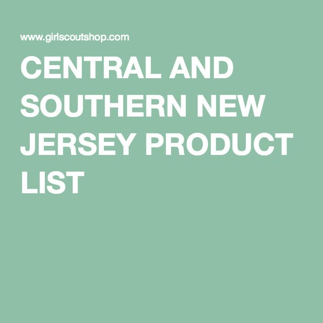 CENTRAL AND SOUTHERN NEW JERSEY PRODUCT LIST