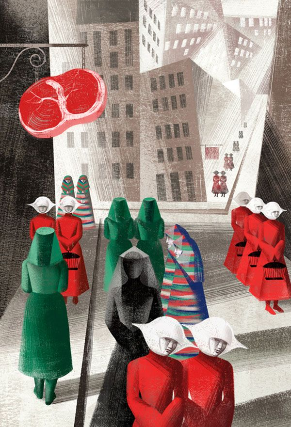 Book Illustrations By Balbusso Sisters For The Handmaid's