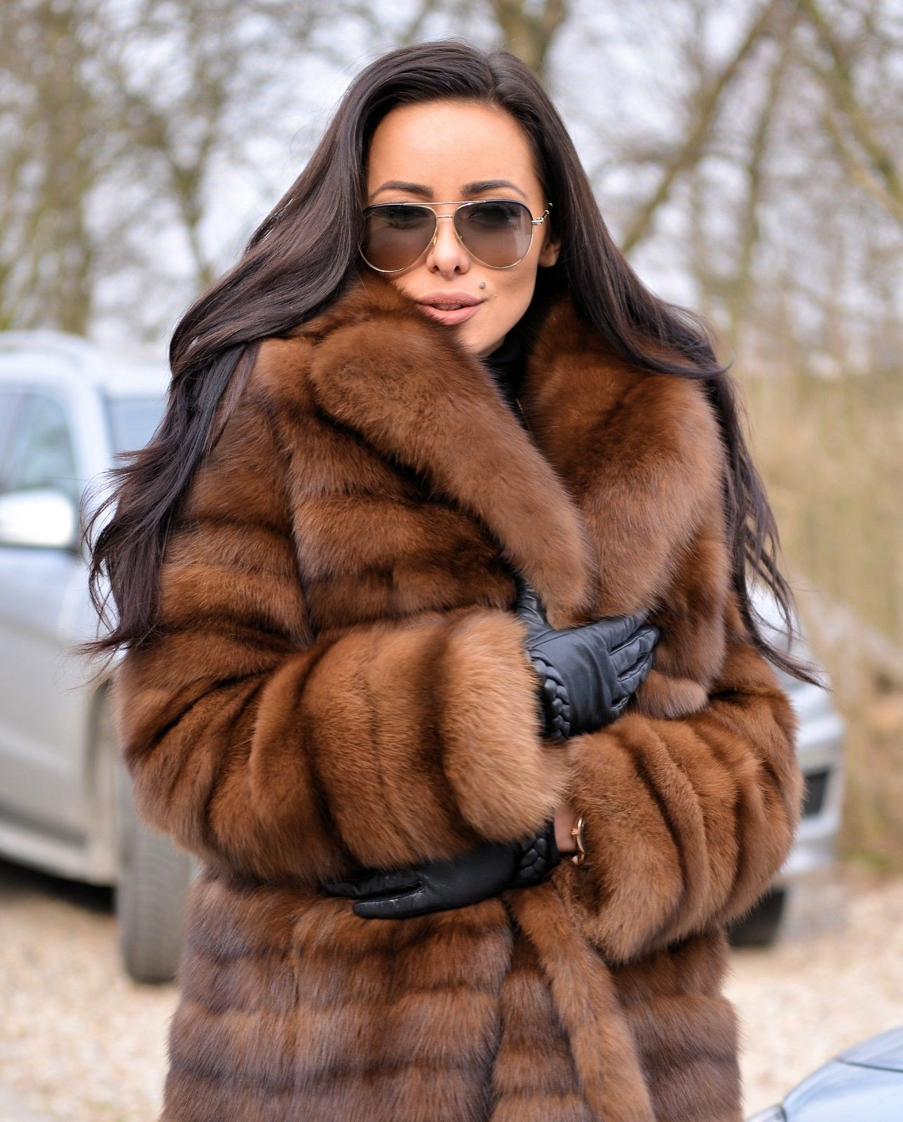 34aa14f926e6 NEW BARGUZIN RUSSIAN SABLE FUR LONG COAT CLAS OF JACKET MINK FOX LYNX  CHINCHILLA | eBay