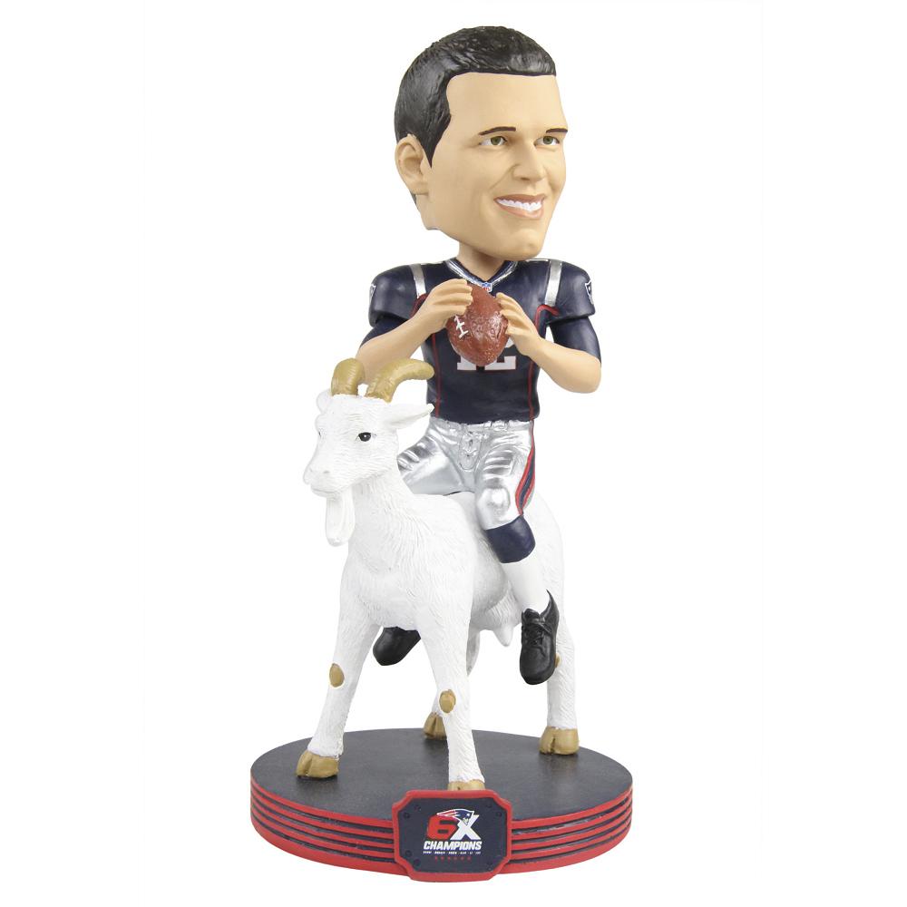Tom Brady 6x Champs Goat Player Bobble Patriots Proshop Patriots Quarterbacks Tom Brady Bobble Head