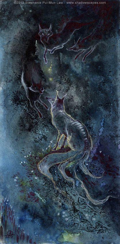 Fox Spirits by puimun.deviantart.com on @deviantART
