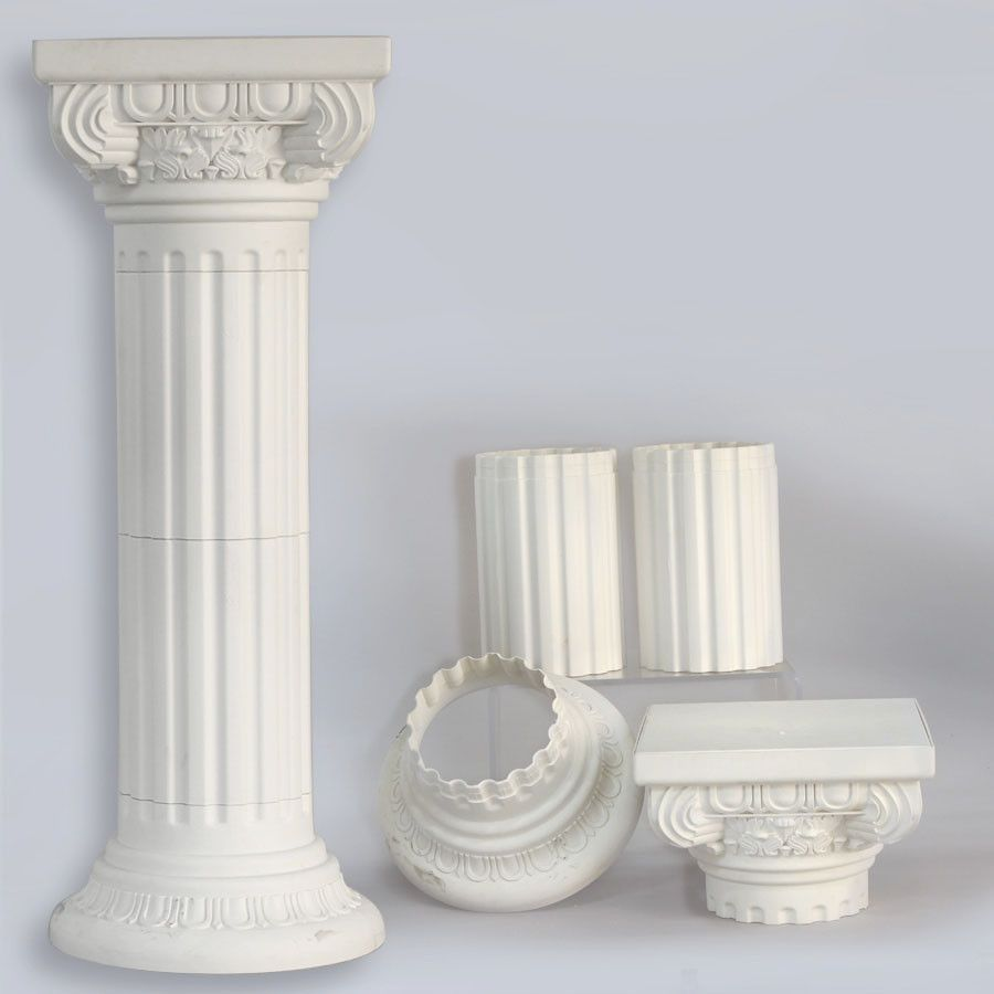 pedestal tall pots roman pvc classic goldtallromanpedestal pedestals collections collection designs products and gold