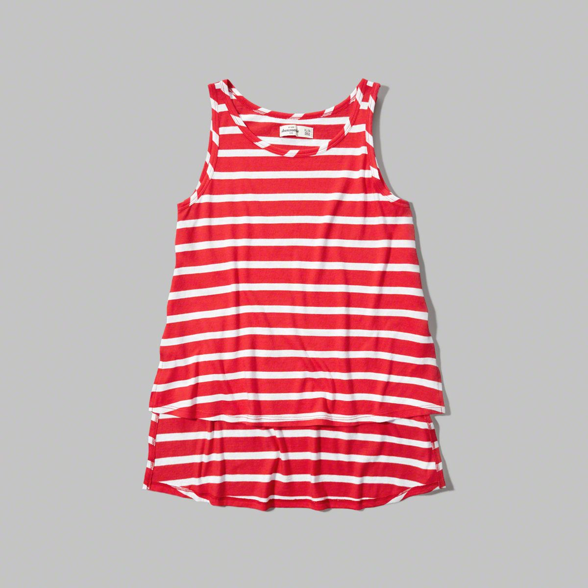 girls patterned high low swing tank | girls tops | abercrombiekids.com