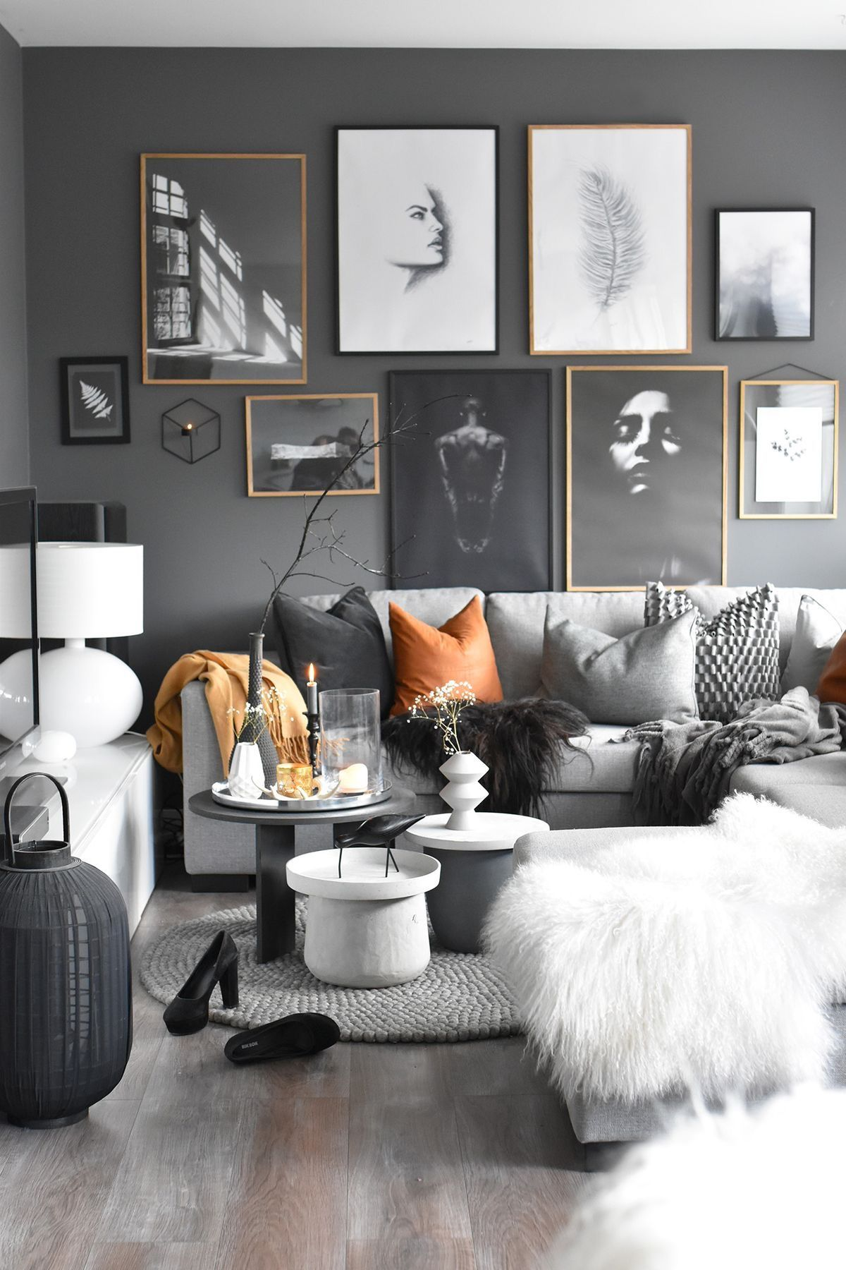 Pin by 🌸Jackie🌸 on DESIGN/GRAY Living room wall