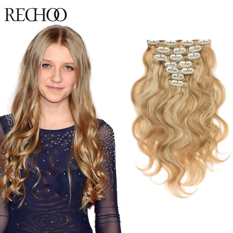 Malaysian Clip In Hair Extensions Body Wave Natural Clip In