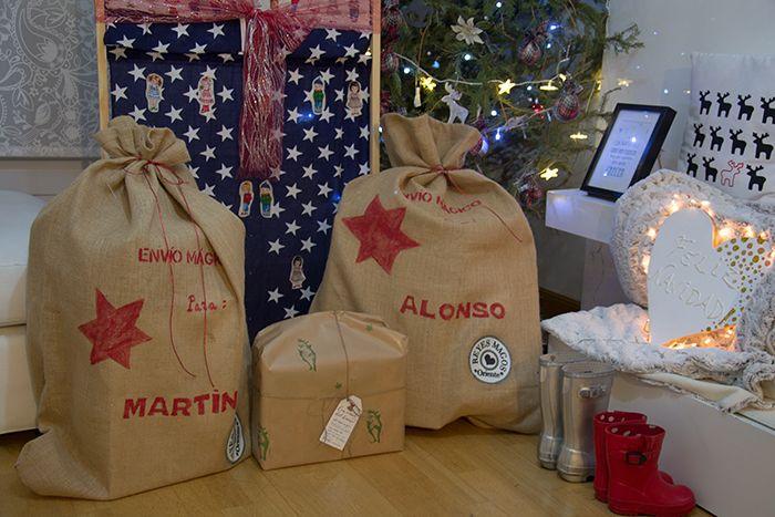 Sacos de regalos de reyes es muy simple pero queda muy - Empaquetado de regalos ...