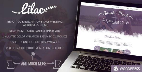 Lilac - One-page Wedding WordPress Theme | Boda, Lilas y Wordpress