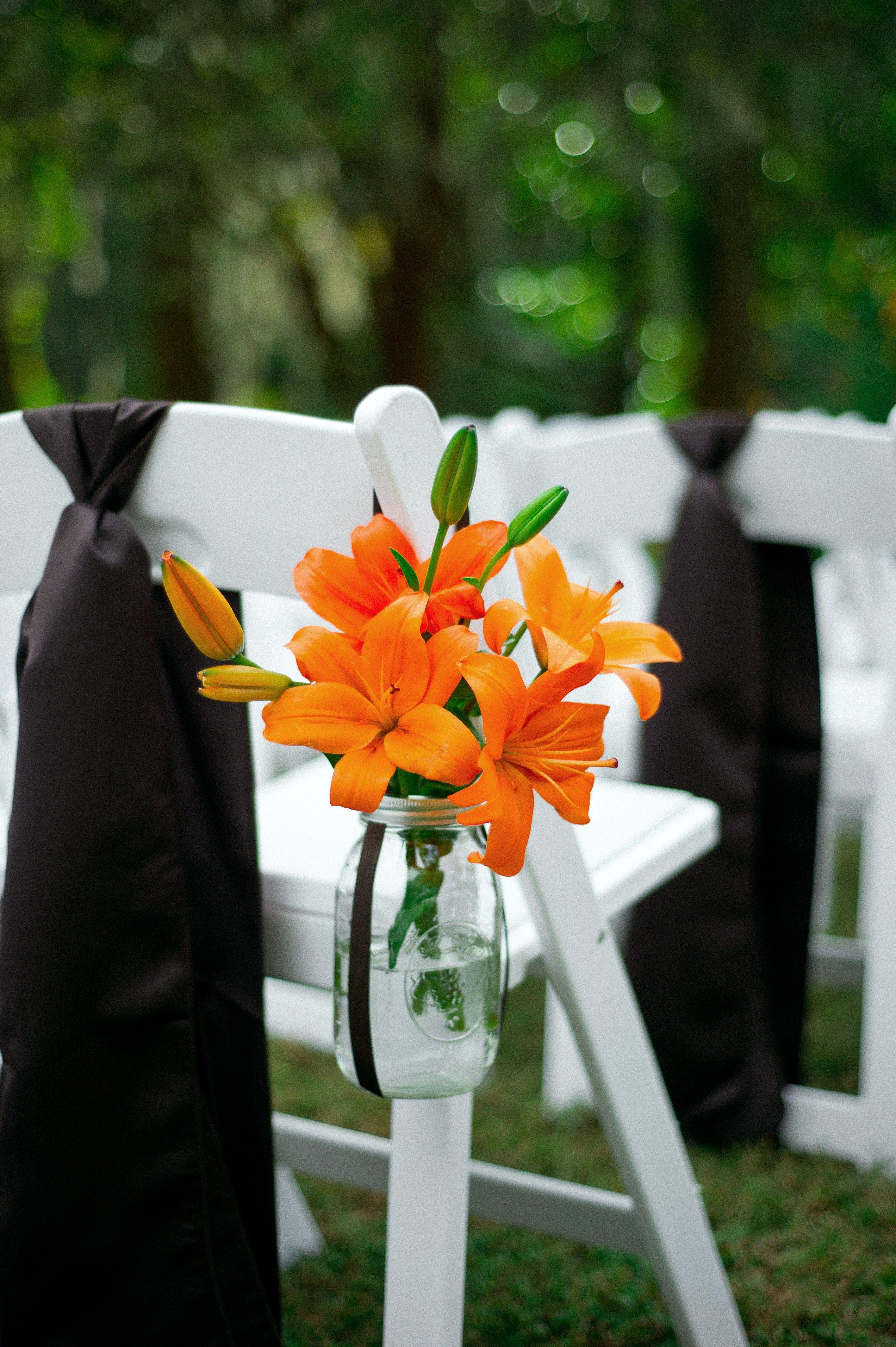 Pin By Engaging Events Charleston W On Ceremony Decor Orange Wedding Decorations Orange Wedding Themes Luxury Wedding Planner