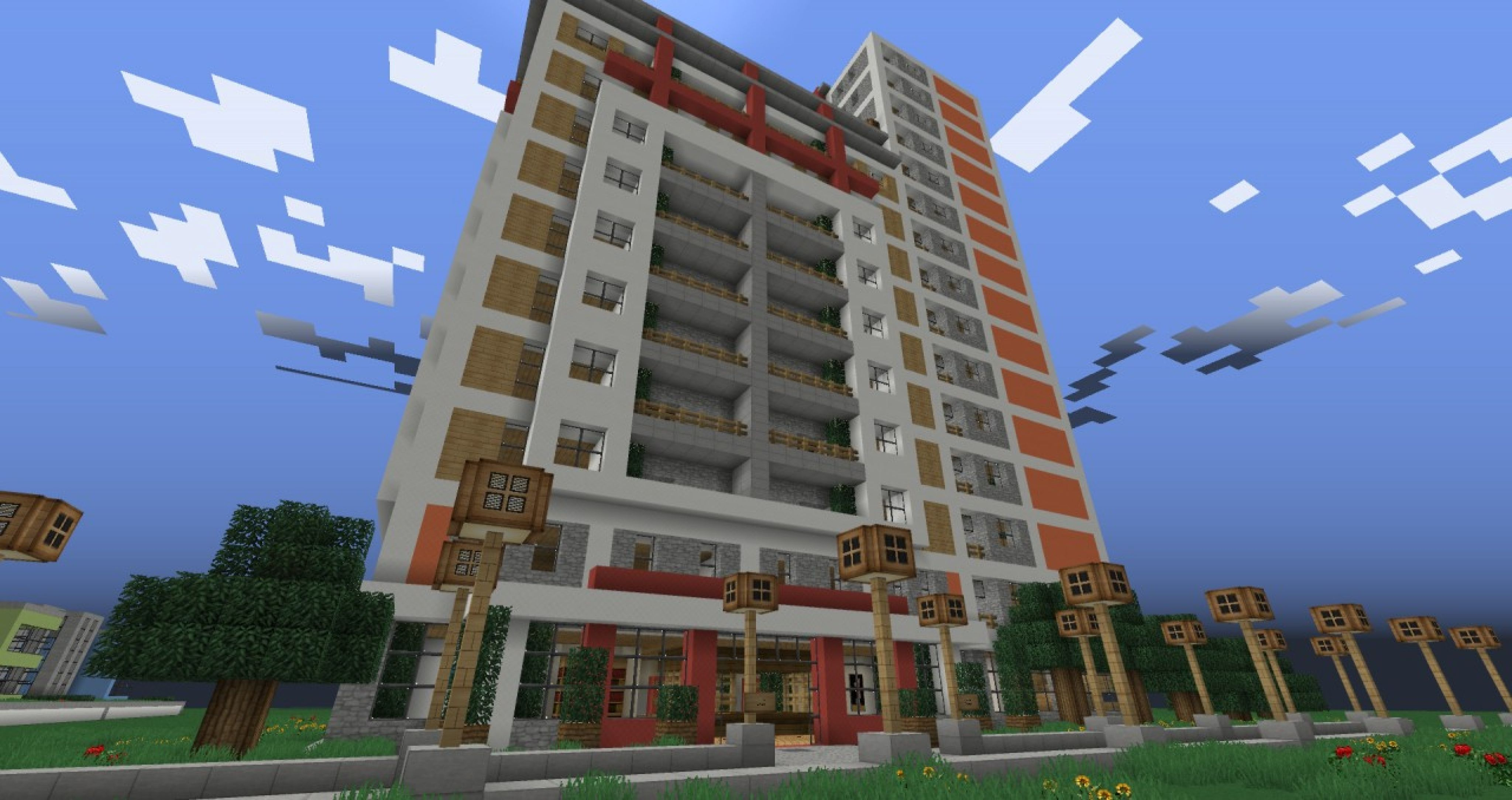 minecraft apartment building best paint for interior walls check more at http - Apartment Building In Minecraft