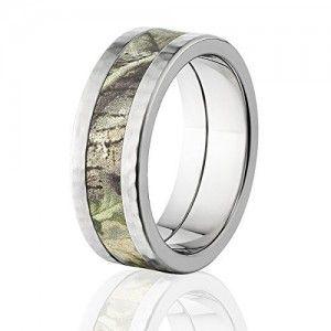 RealTree AP Green Camouflage Rings, Premium Titanium Camo Rings