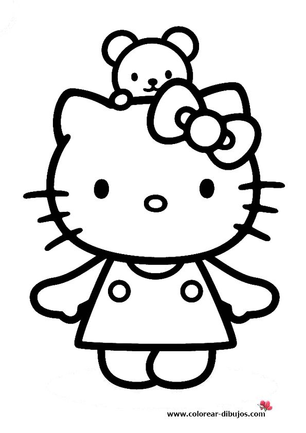 hello kitty coloring pages wallpapers for ipad   Hello kitty coloring pages   Hello kitty images, Hello ...