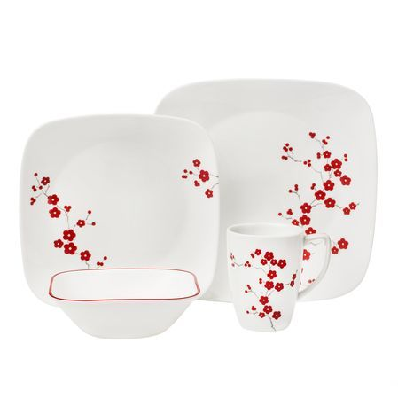 Square™ Hanami Garden 16-pc Dinnerware Set by Corelle  sc 1 st  Pinterest & Square™ Hanami Garden 16-pc Dinnerware Set by Corelle | Dinnerware ...