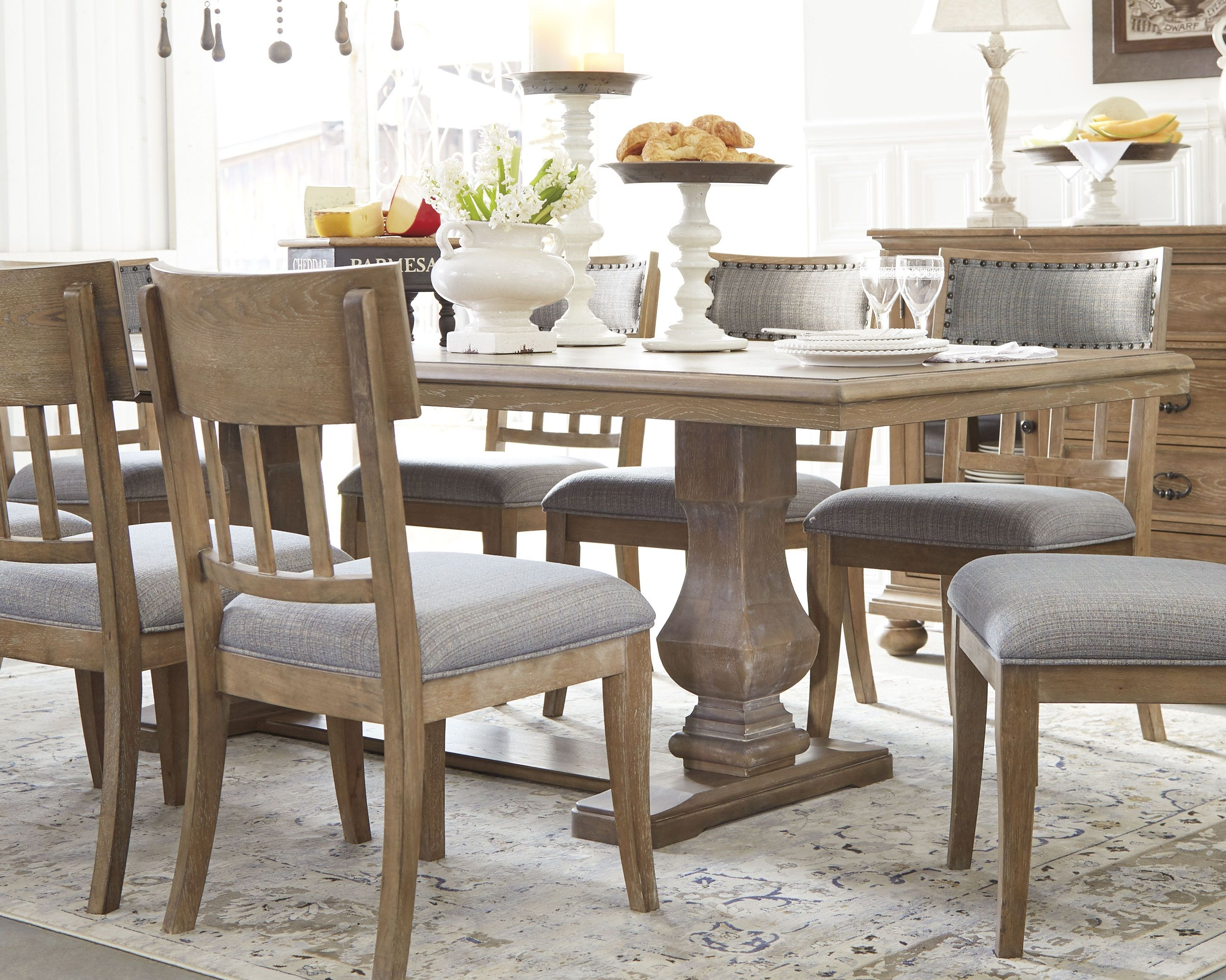 63b57cf9aa Ollesburg 5-Piece Dining Room in 2019 | Products | Dining room bench ...