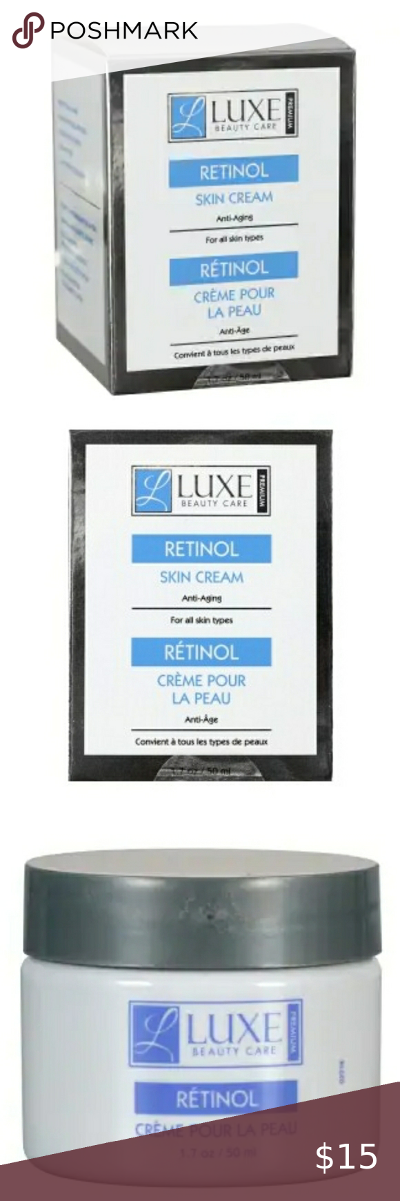 Luxe Beauty Care Retinol Skin Cream Premium Anti Aging Skin Cream Is Hydrating And And Gentle On Your Skin Plus In 2020 Skin Cream Skin Cream Anti Aging Beauty Care