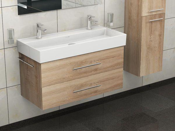 Flex Badmobel 100 Eiche Gold Doppelwaschtisch Mit Bildern Waschtisch Holz Rustikal Waschtisch Waschtisch Holz
