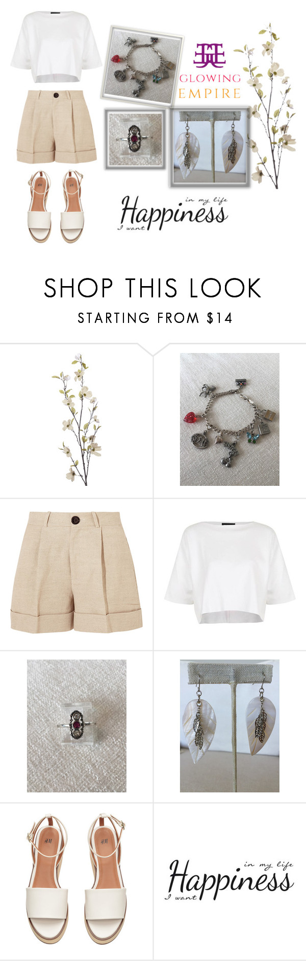 """""""Glowing Empire 4/2"""" by goldenhour ❤ liked on Polyvore featuring Pier 1 Imports, Totême, Topshop and York Wallcoverings"""