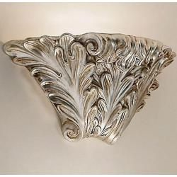 Photo of Kolarz wall lamp Rococo, ceramic, hand-made, fire-silver plated Rococo, silver, silver leaf 0008