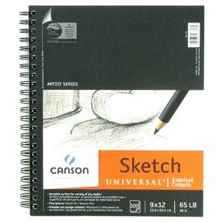Canson Universal Recycled 9 X 12 Sketch Pad Shop Hobby Lobby