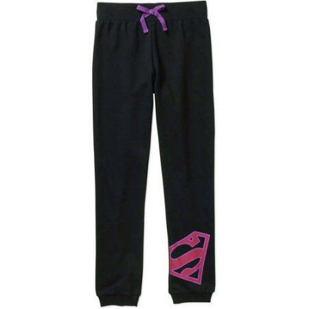 Supergirl Girls' Jogger Pant, Size: 6/6X, Black