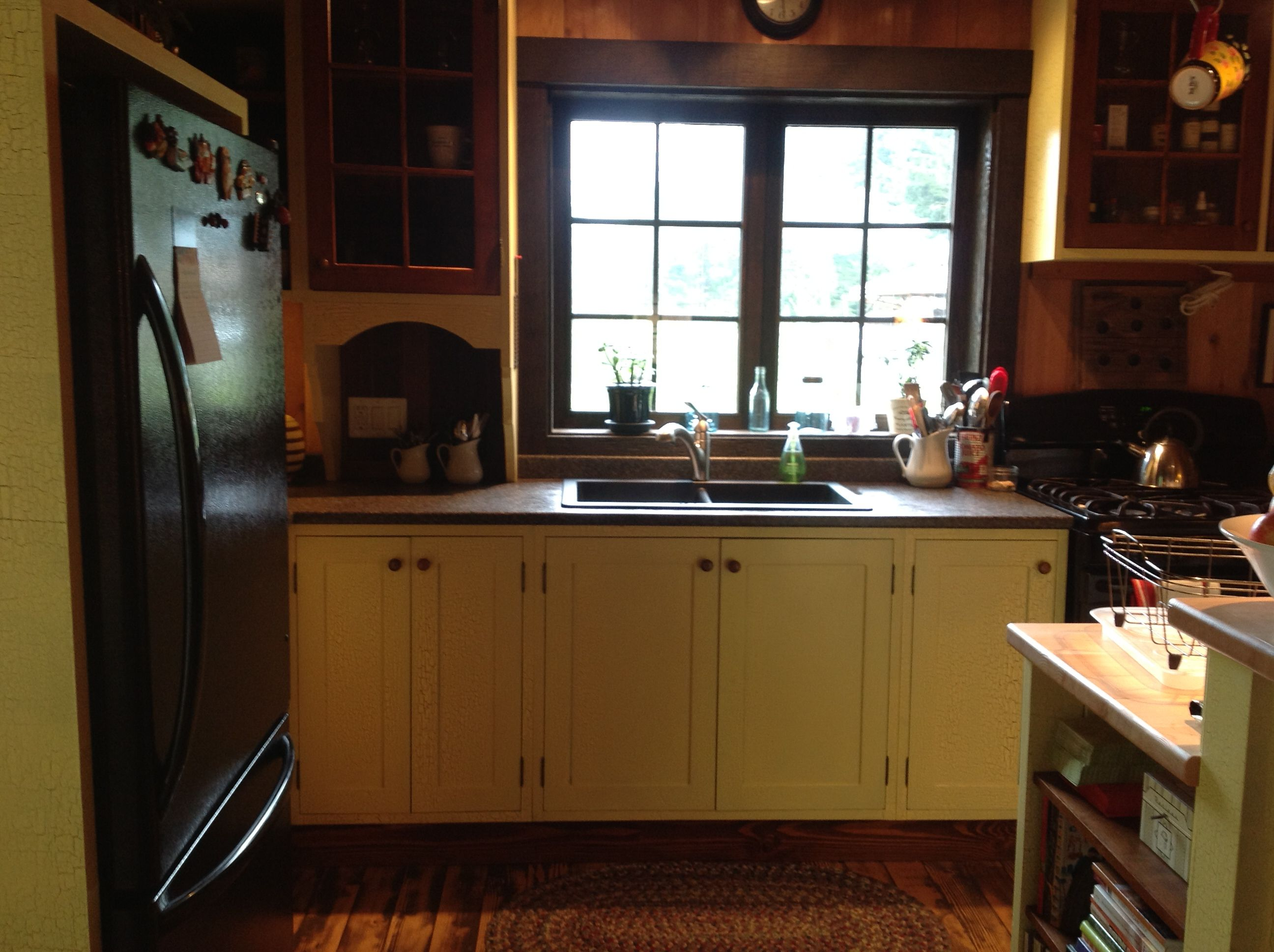 Yellow crackle painted cabinets... | Painting cabinets ...