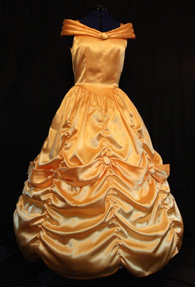 Stunning belle yellow gown adult size costume via etsy
