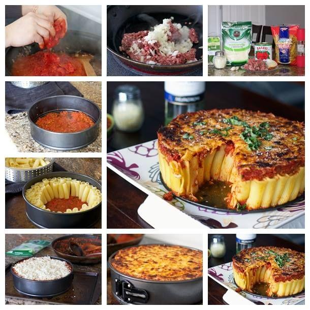 Diy yummy and easy rigatoni pasta pie recipe and tutorial foood diy yummy and easy rigatoni pasta pie recipe and tutorial forumfinder Images