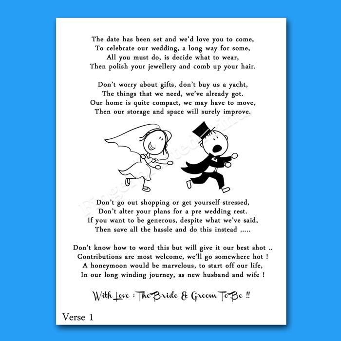 Wedding Cash Money Voucher Request Poems For Invites Cheap Amp Funny RG2 Design