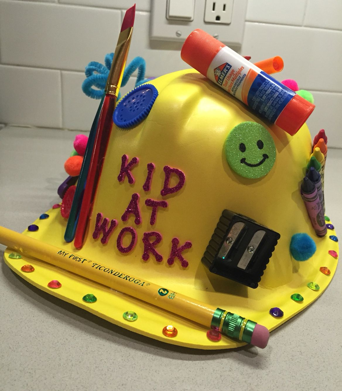 crazy hat day for pre school kid at work hat creative