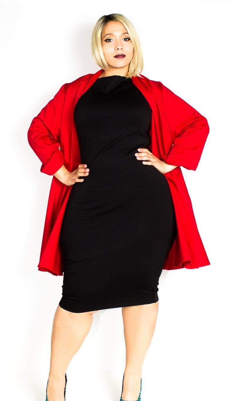 Plus Size Custom Wrap Coat Dress
