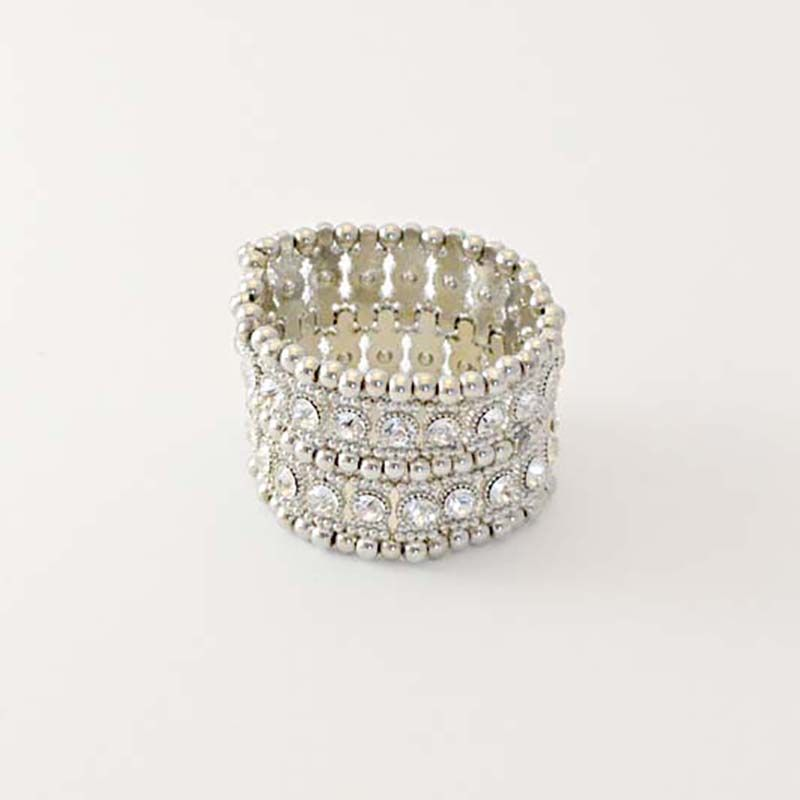 Artemis Silver by TuVous - $15.00  Silver metal beading and diamond sparkle give this bracelet a sophisticated pizzazz with elegant style.  Available at www.stylishvous.com