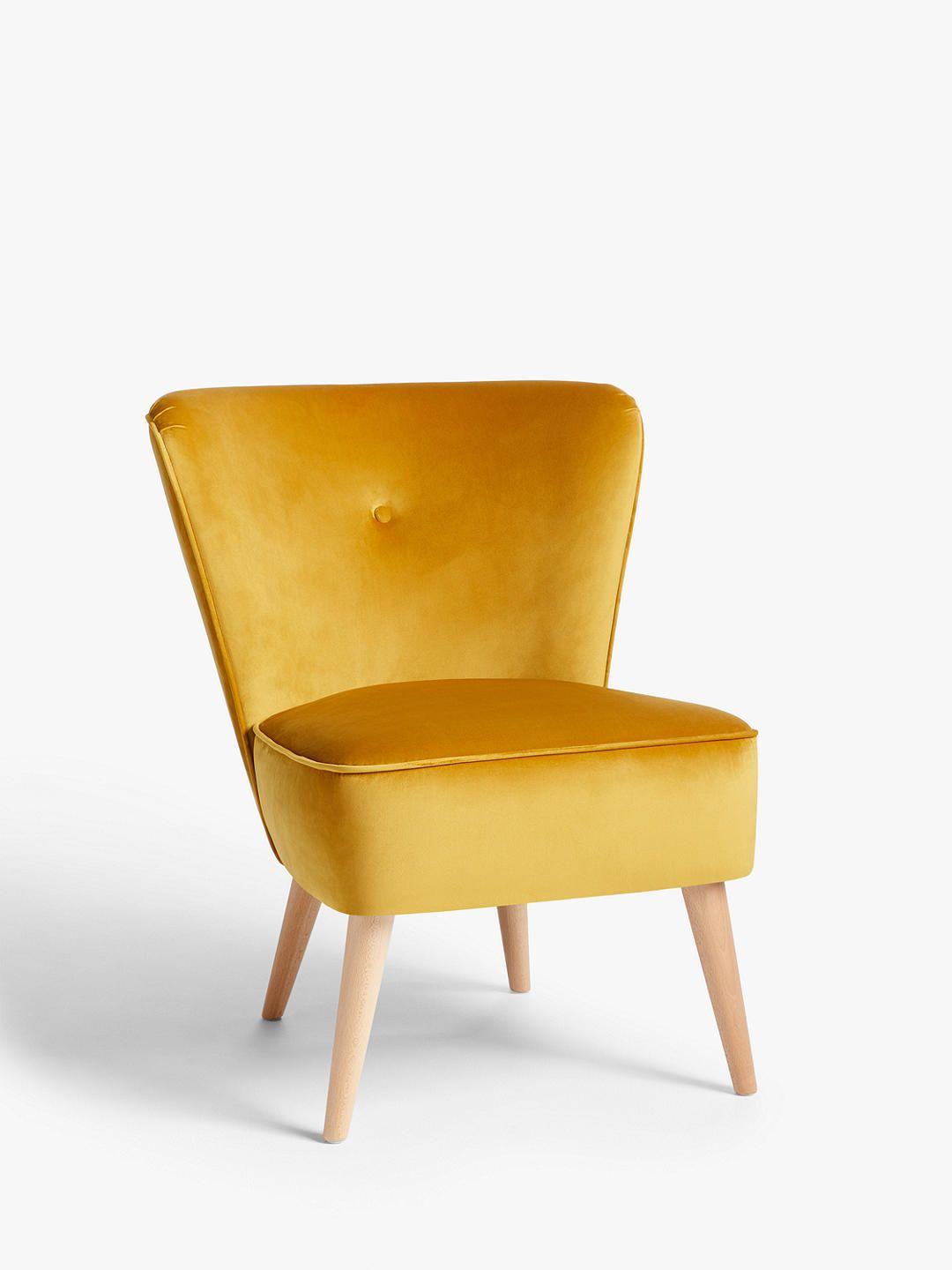 House By John Lewis Audrey Accent Chair Saffron Velvet Accent