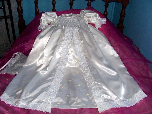 smocked satin 2 layer gown 85 cm 0427820744 a cutiepye creation $120