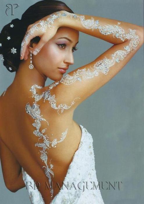 White Henna Beauty Henne Henne Blanc Henne Mariage