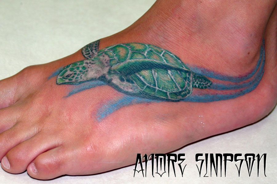 sea turtle tattoo with current around ankle this would be perfect on my left foot tats. Black Bedroom Furniture Sets. Home Design Ideas